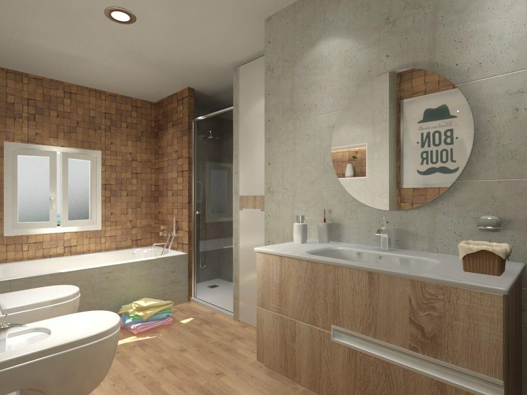Rehabilitación interior de un baño de 8m² by AC2 bcn